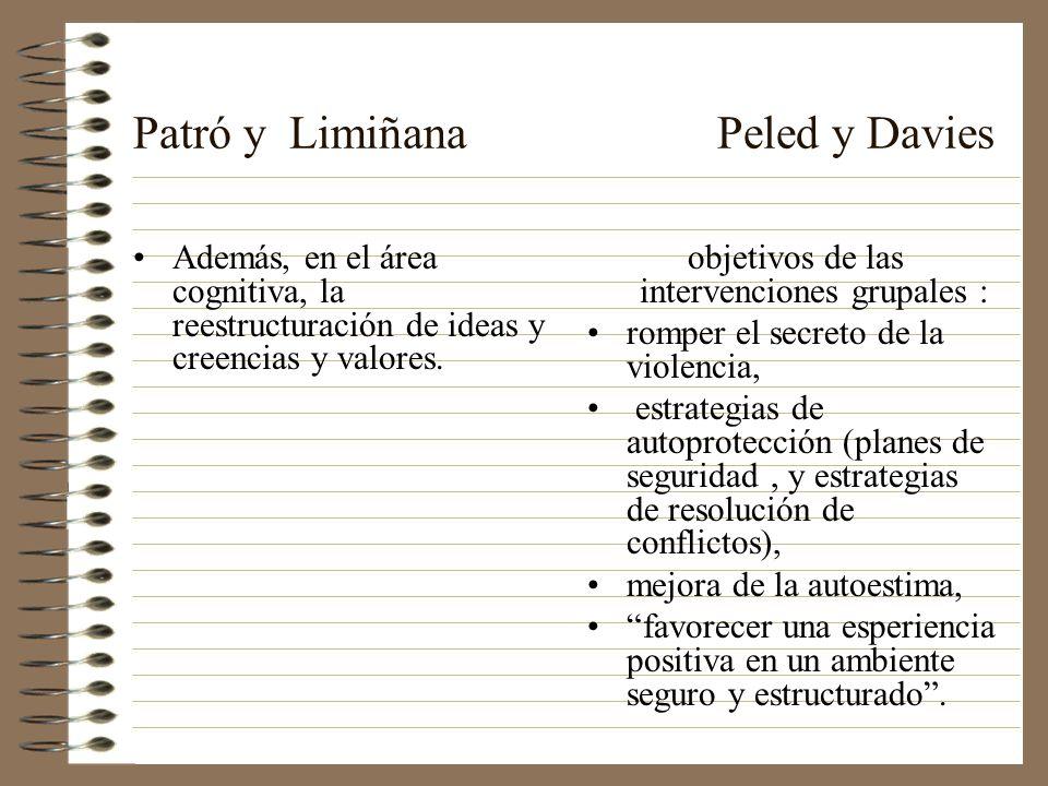 Patró y Limiñana Peled y Davies