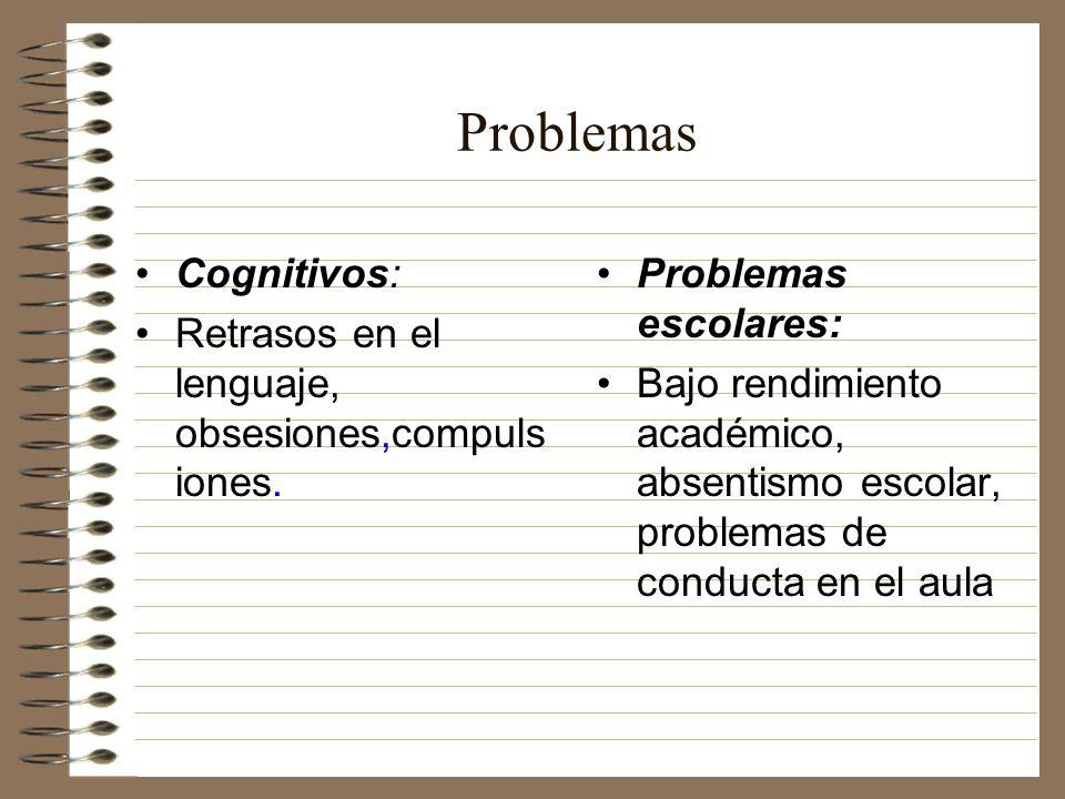 Problemas Cognitivos: