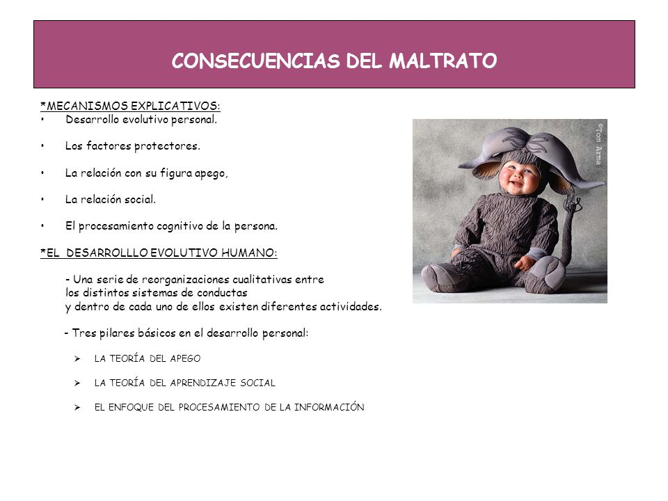 CONSECUENCIAS DEL MALTRATO