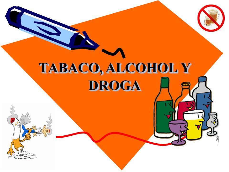 TABACO, ALCOHOL Y DROGA