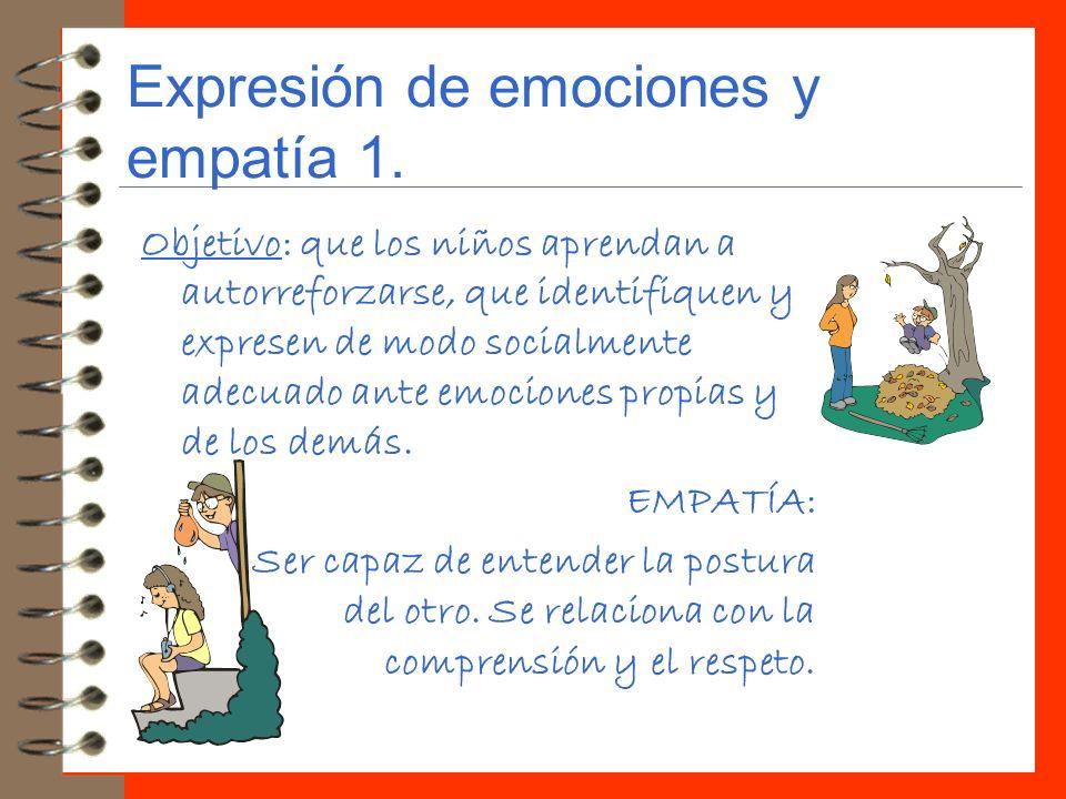 Expresión de emociones y empatía 1.