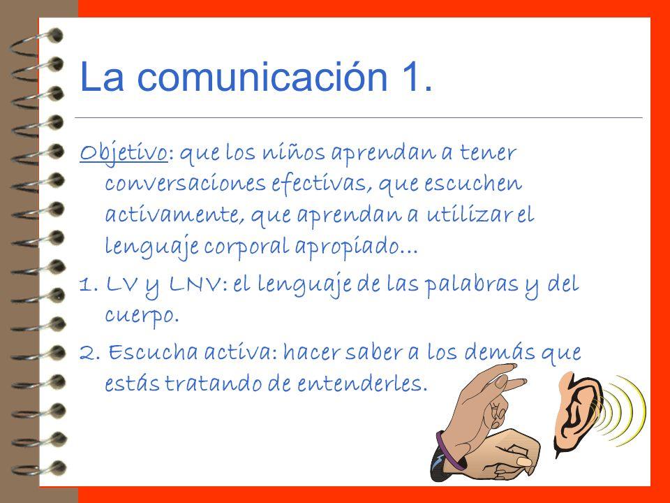 La comunicación 1.