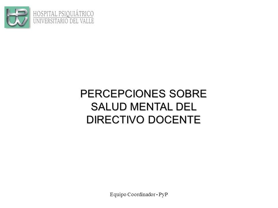 PERCEPCIONES SOBRE SALUD MENTAL DEL DIRECTIVO DOCENTE