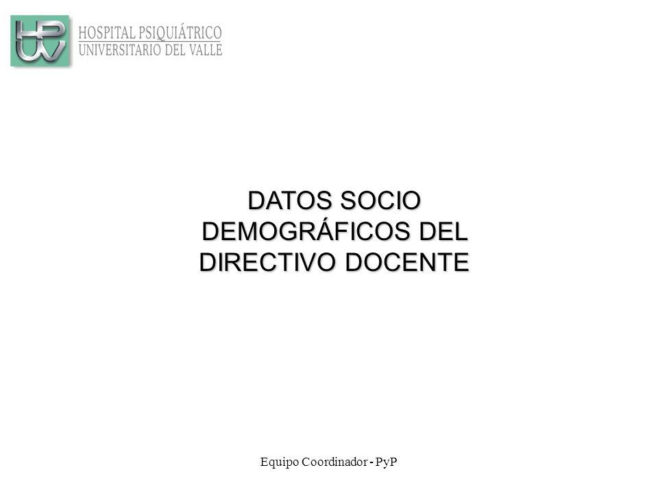 DATOS SOCIO DEMOGRÁFICOS DEL DIRECTIVO DOCENTE