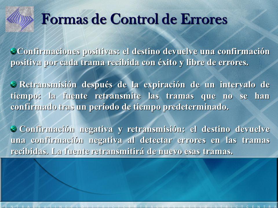 Formas de Control de Errores