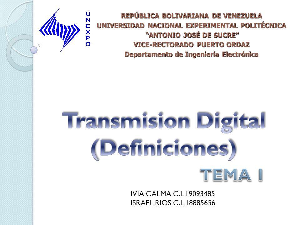 Transmision Digital (Definiciones)