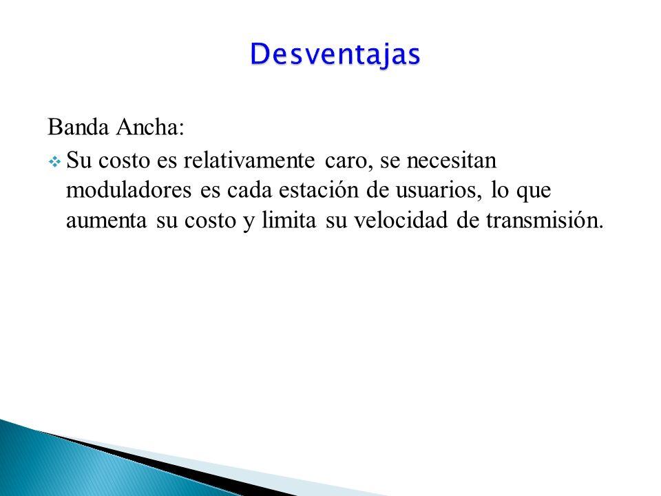 Desventajas Banda Ancha: