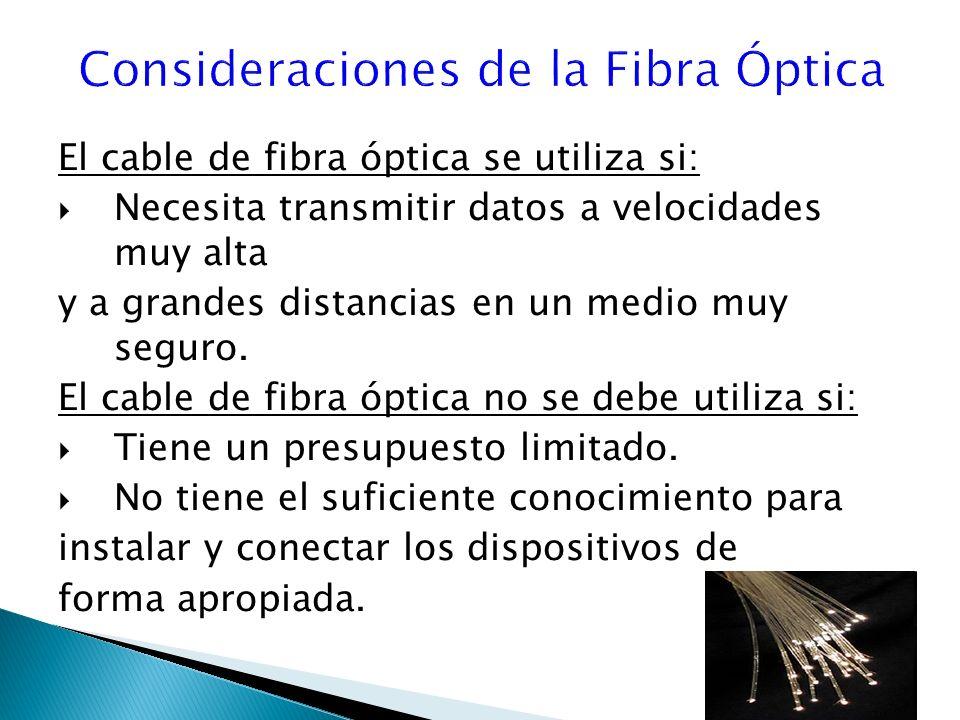 Consideraciones de la Fibra Óptica