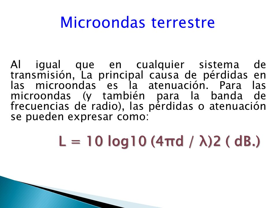 Microondas terrestre