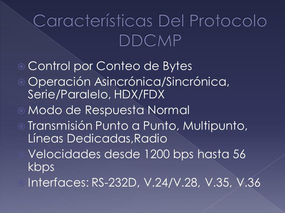 Características Del Protocolo DDCMP