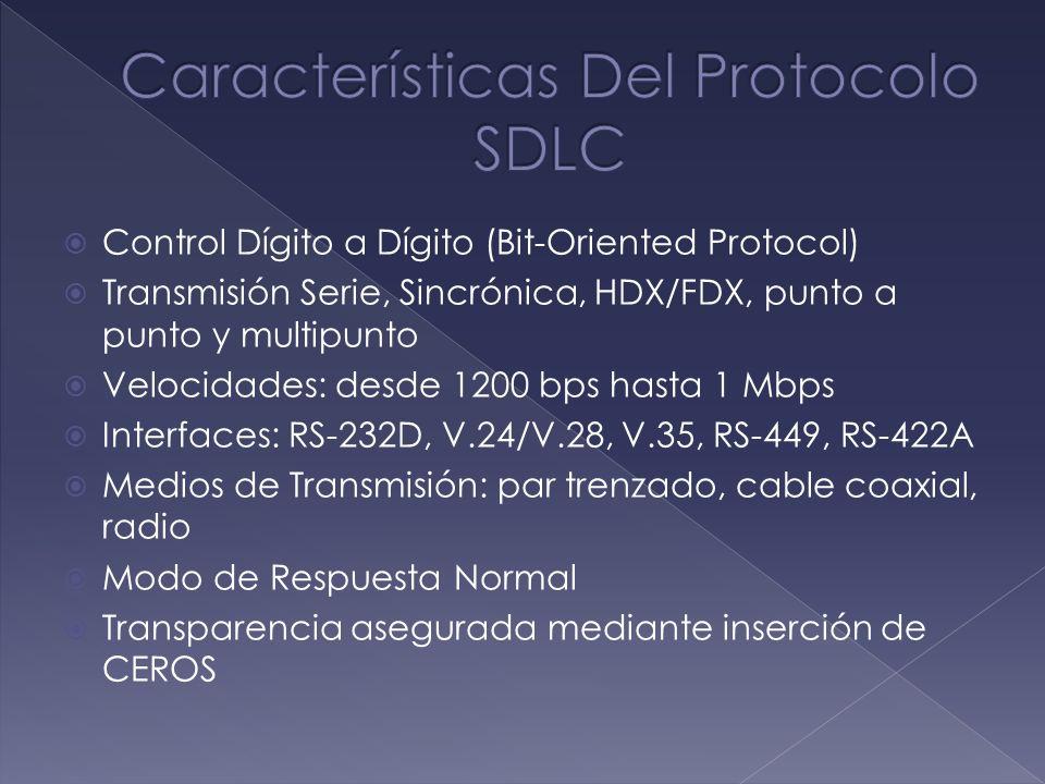 Características Del Protocolo SDLC
