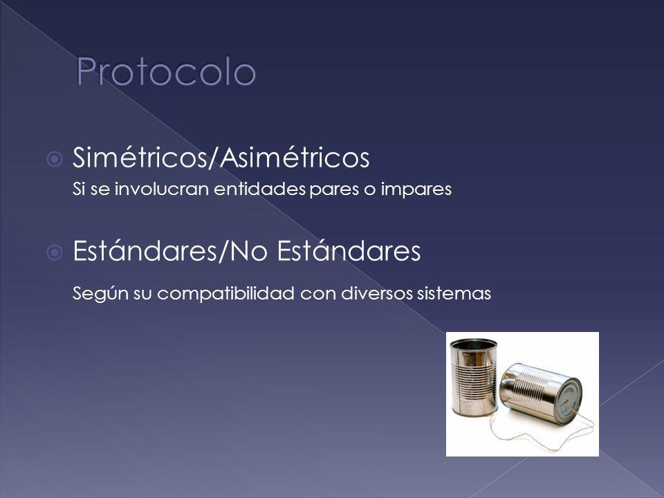 Protocolo Simétricos/Asimétricos Estándares/No Estándares