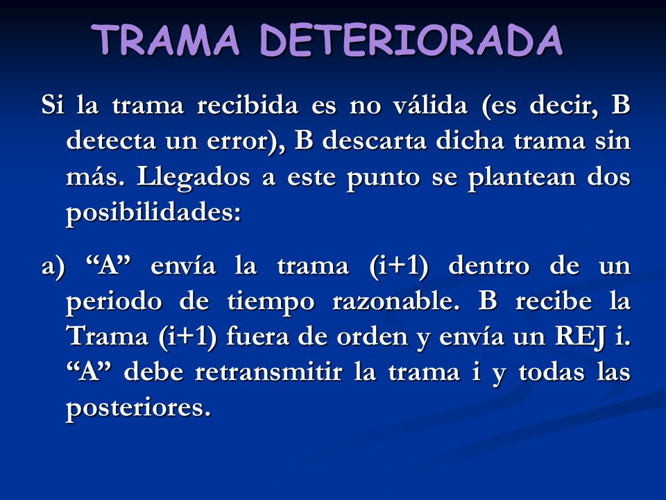 TRAMA DETERIORADA