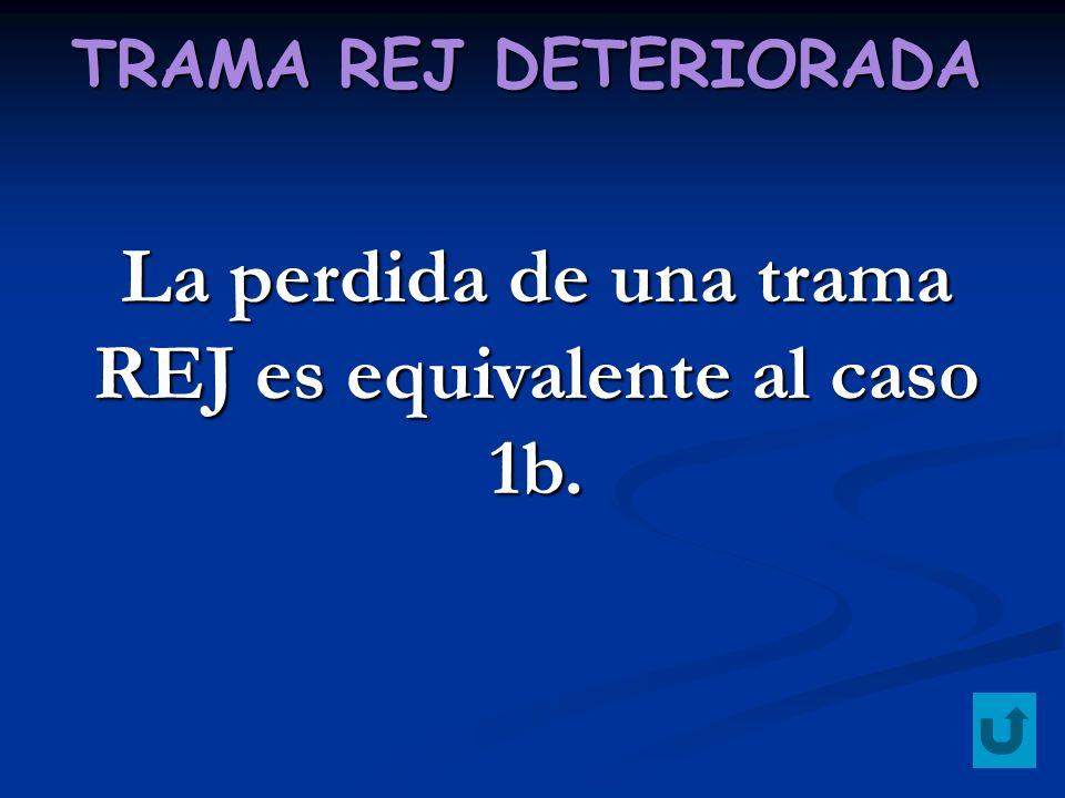 La perdida de una trama REJ es equivalente al caso 1b.