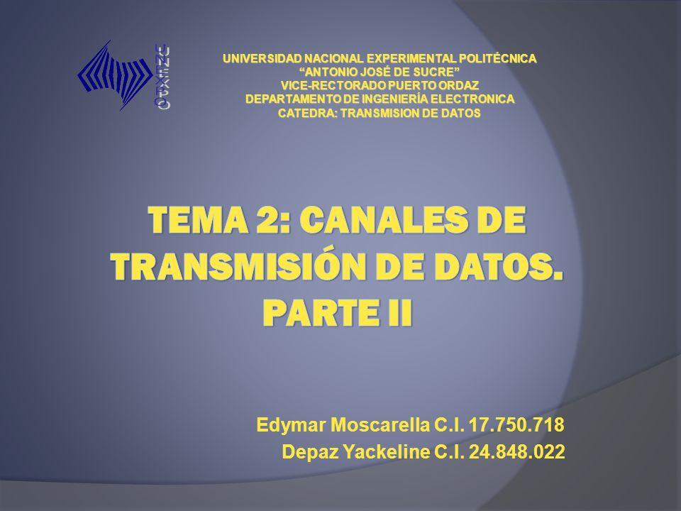 TEMA 2: Canales de Transmisión de datos. Parte ii