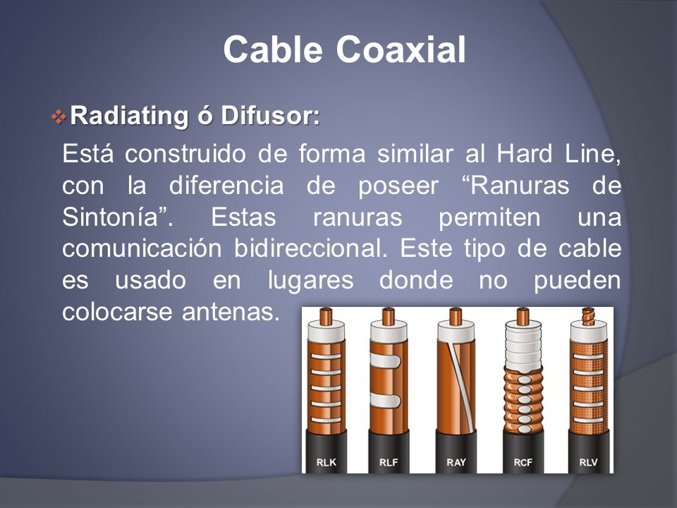 Cable Coaxial Radiating ó Difusor: