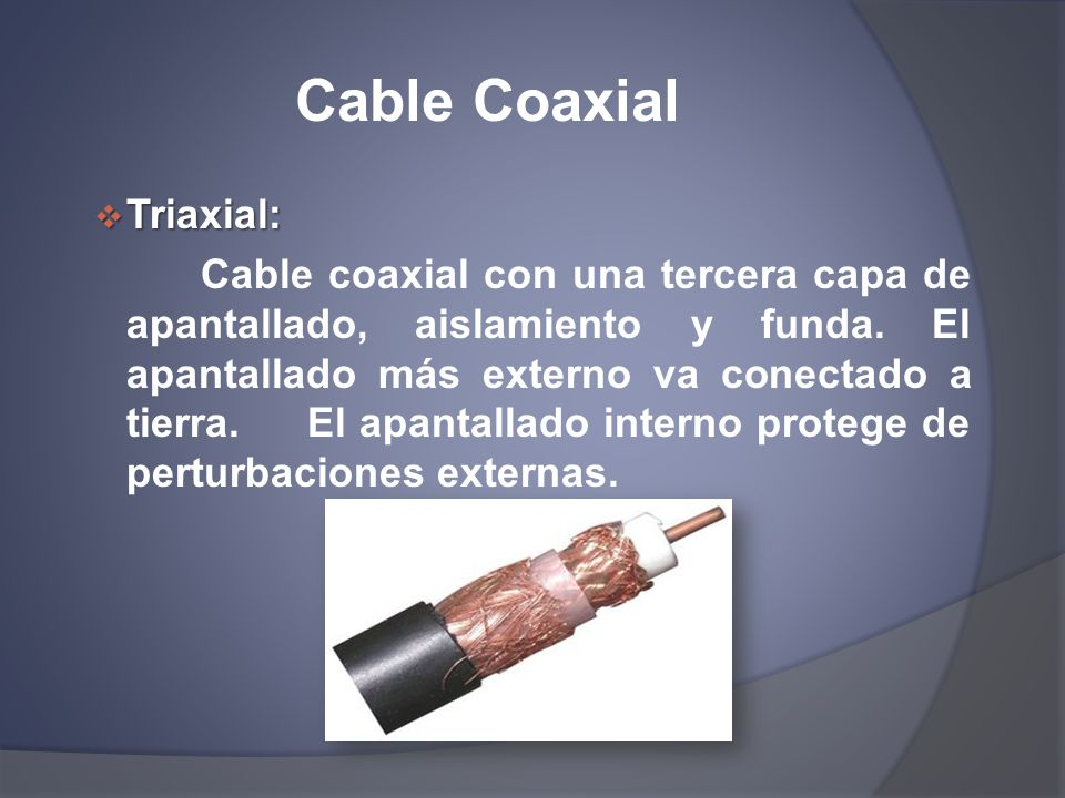Cable Coaxial Triaxial: