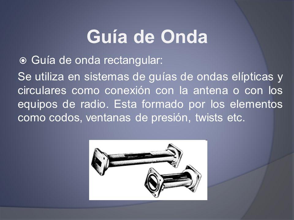 Guía de Onda Guía de onda rectangular:
