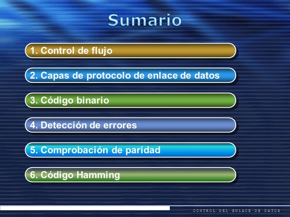 Sumario 1. Control de flujo 2. Capas de protocolo de enlace de datos