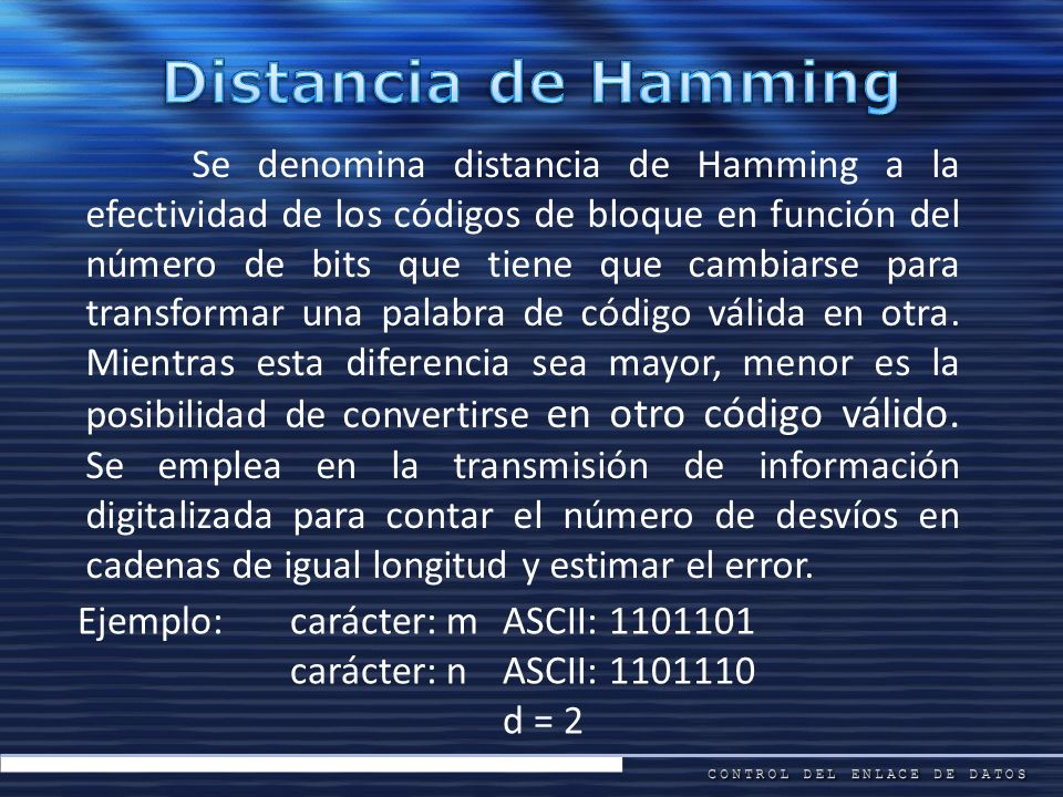 Distancia de Hamming