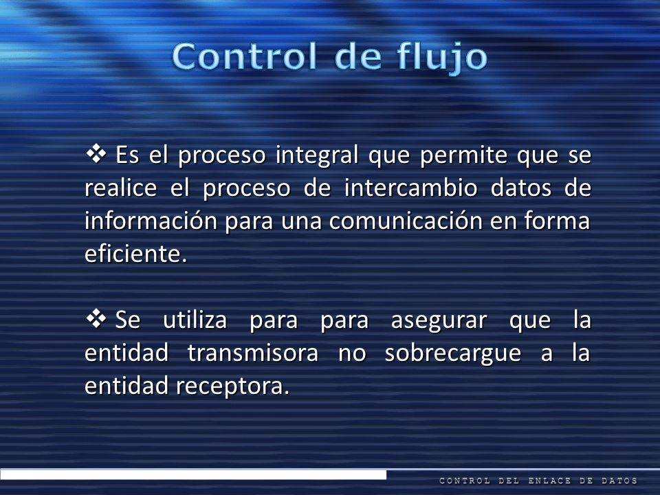 Control de flujo