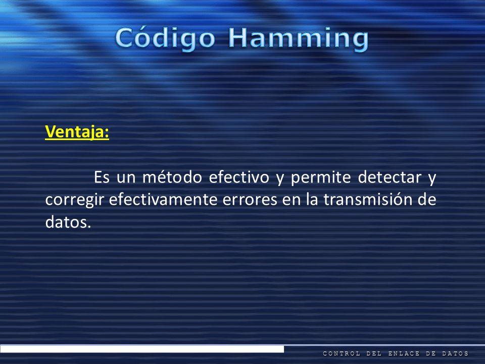 Código Hamming Ventaja: