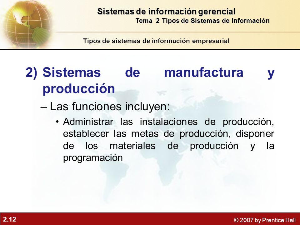 Sistemas de manufactura y producción