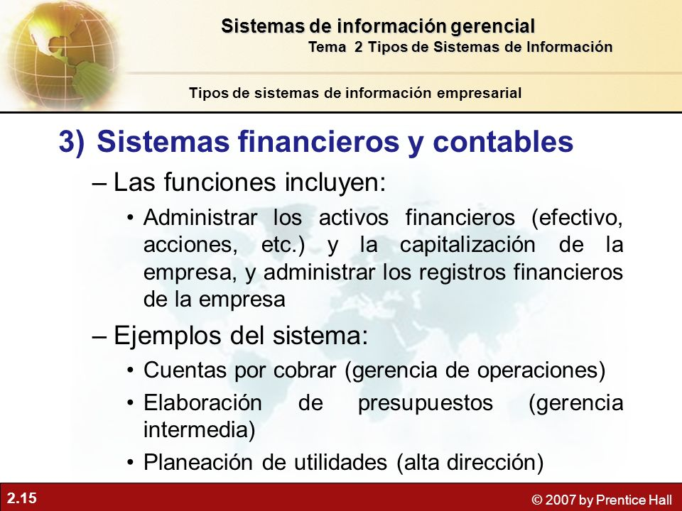 Sistemas financieros y contables