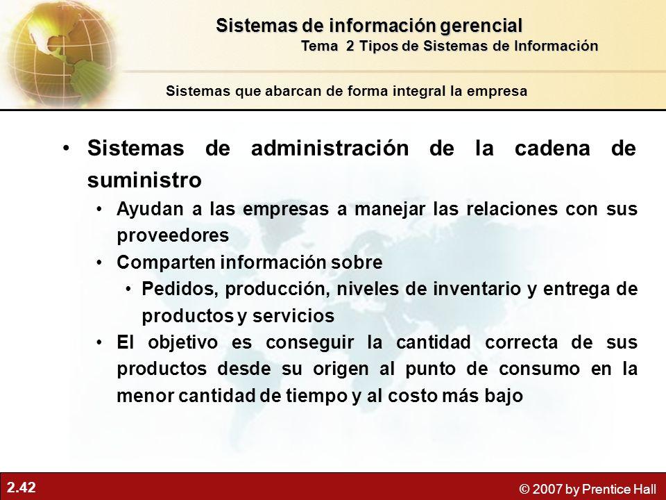 Sistemas de administración de la cadena de suministro