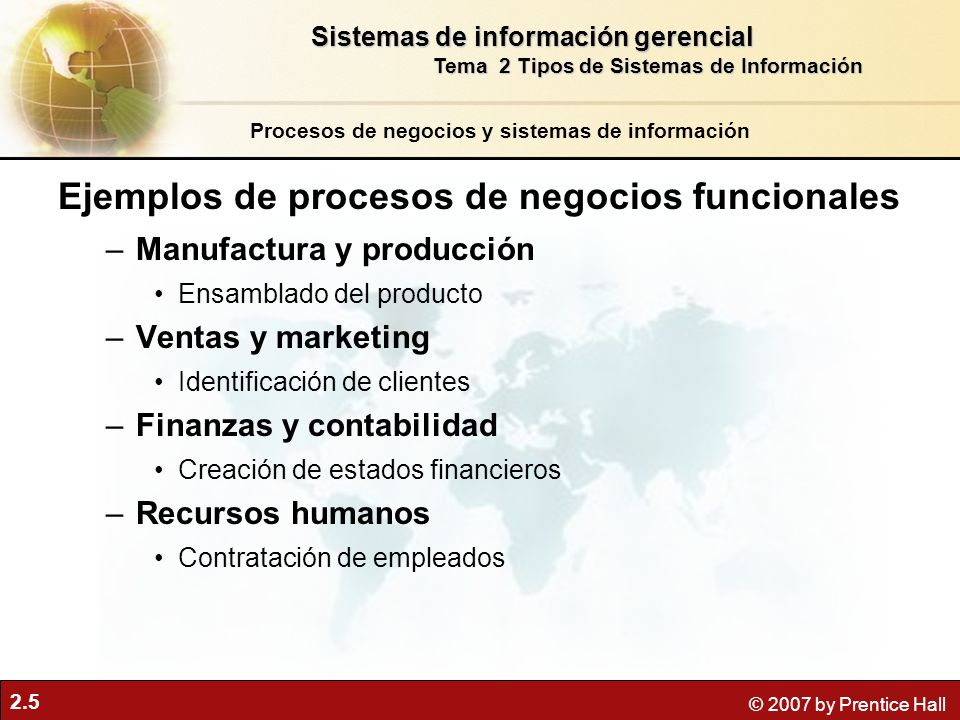 Ejemplos de procesos de negocios funcionales