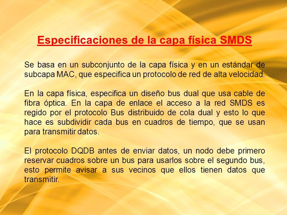 Especificaciones de la capa física SMDS