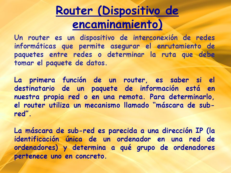 Router (Dispositivo de encaminamiento)