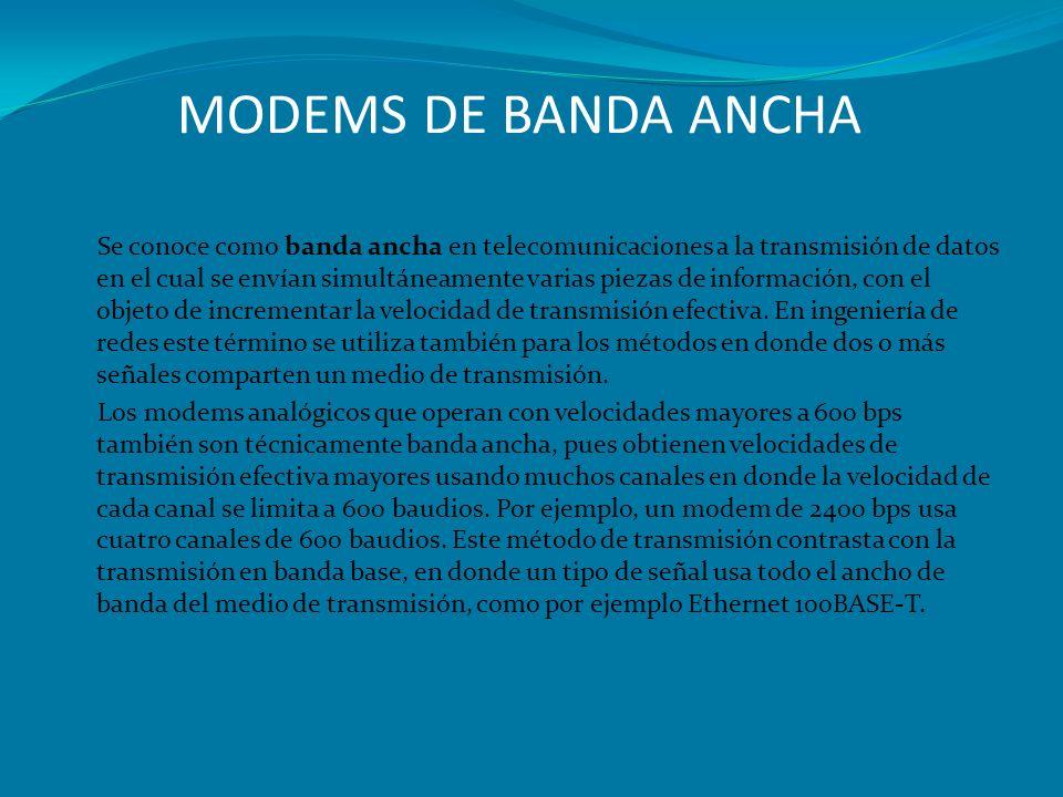 MODEMS DE BANDA ANCHA