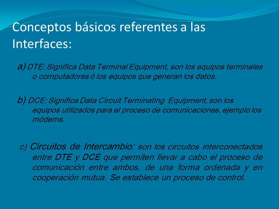 Conceptos básicos referentes a las Interfaces: