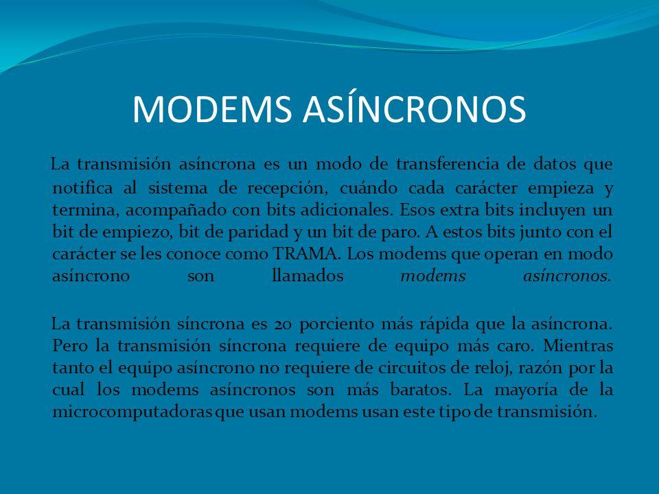 MODEMS ASÍNCRONOS