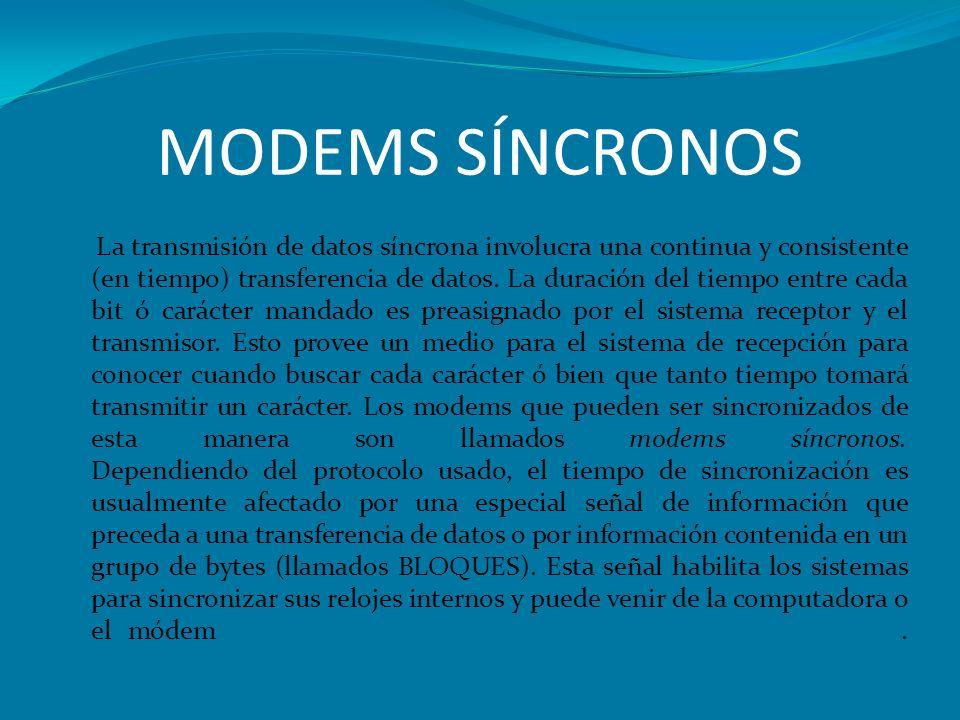 MODEMS SÍNCRONOS