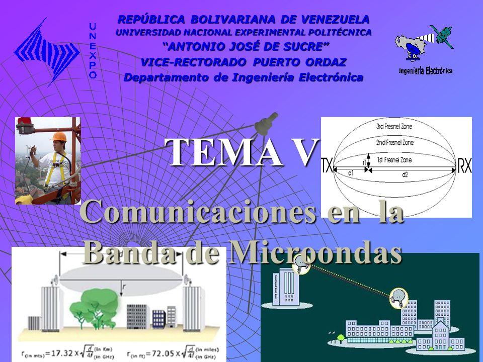 Comunicaciones en la Banda de Microondas