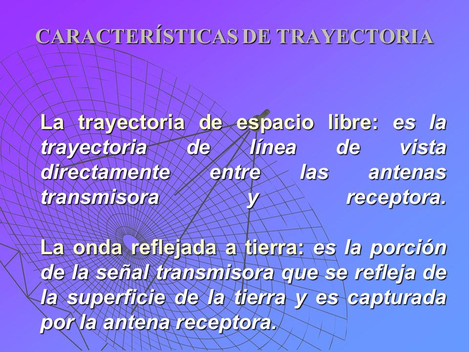 CARACTERÍSTICAS DE TRAYECTORIA