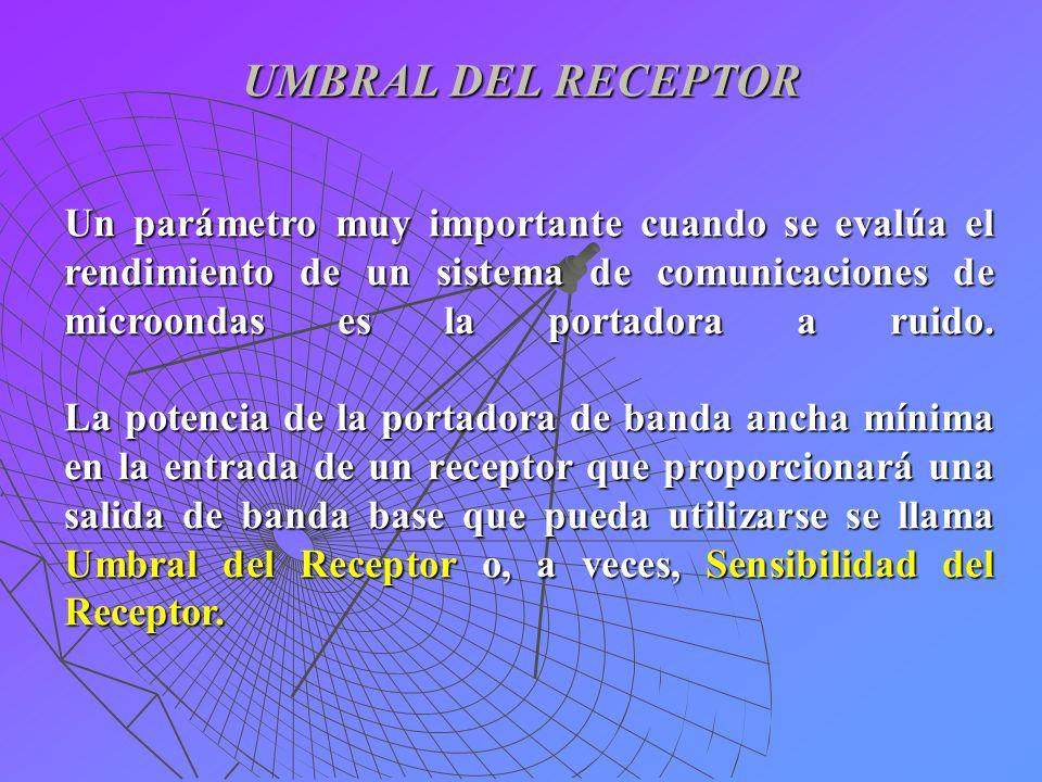UMBRAL DEL RECEPTOR