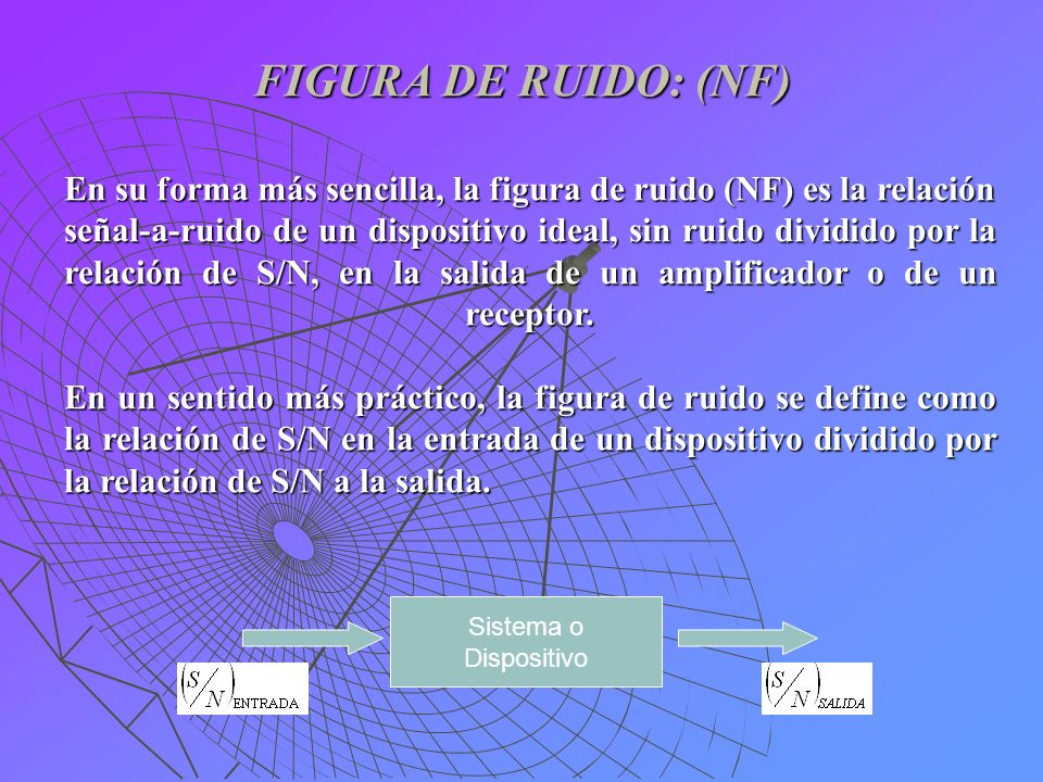 FIGURA DE RUIDO: (NF)