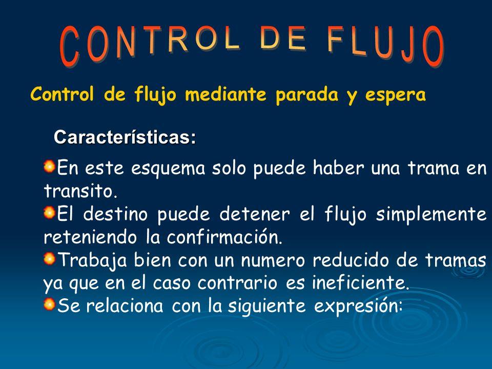 CONTROL DE FLUJO Control de flujo mediante parada y espera