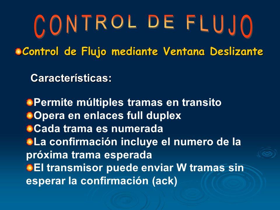 CONTROL DE FLUJO Control de Flujo mediante Ventana Deslizante