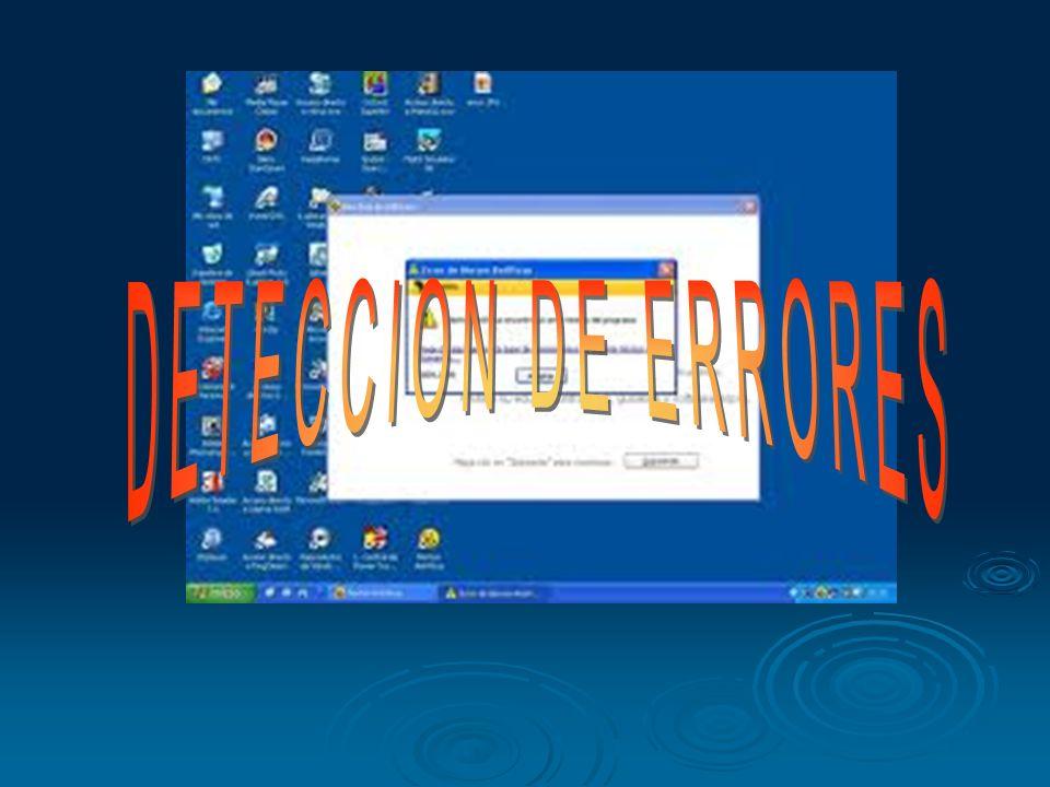 DETECCION DE ERRORES