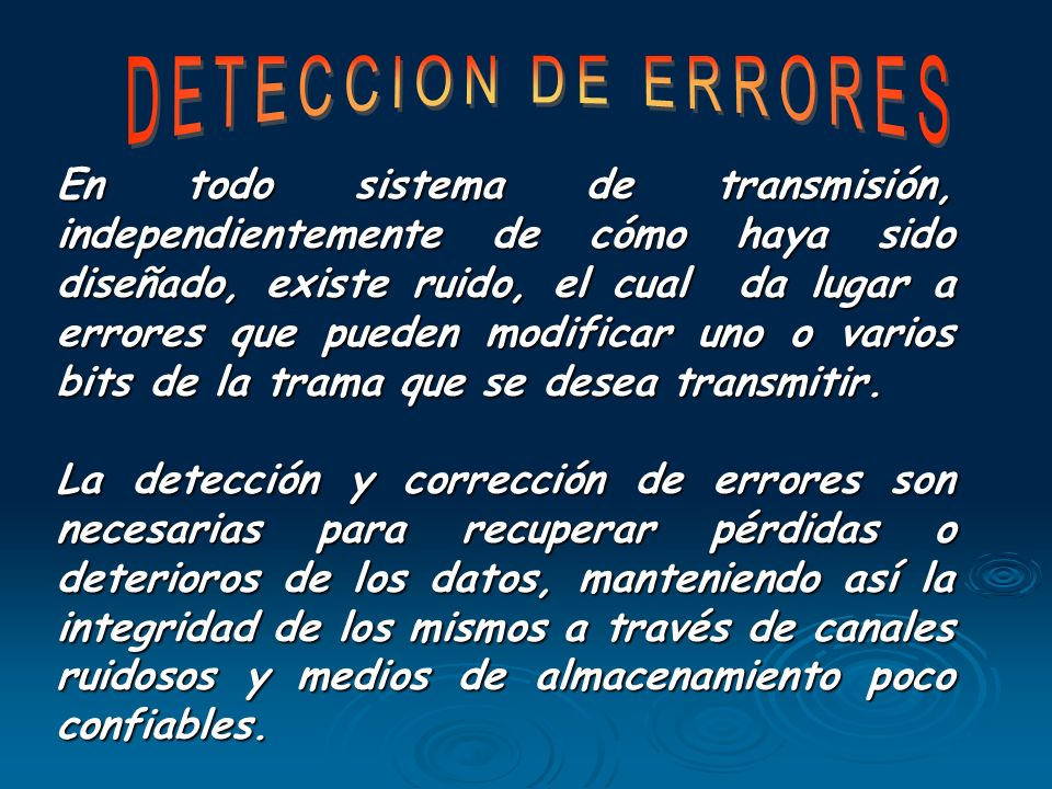 DETECCION DE ERRORES