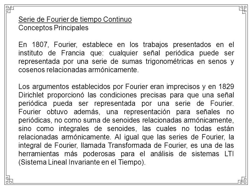 Serie de Fourier de tiempo Continuo