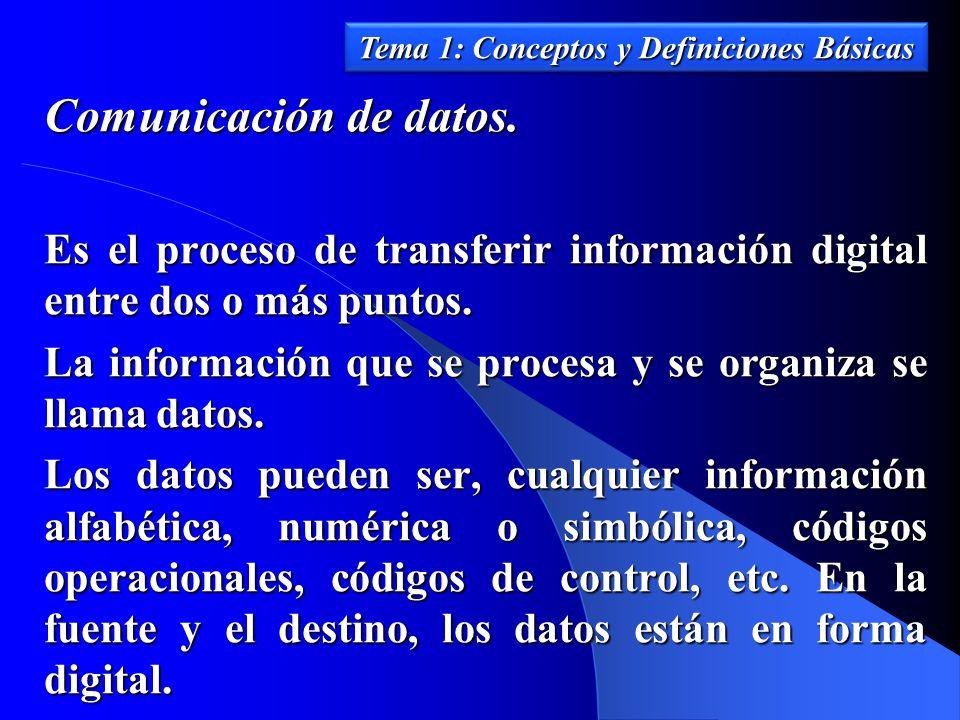 Tema 1: Conceptos y Definiciones Básicas