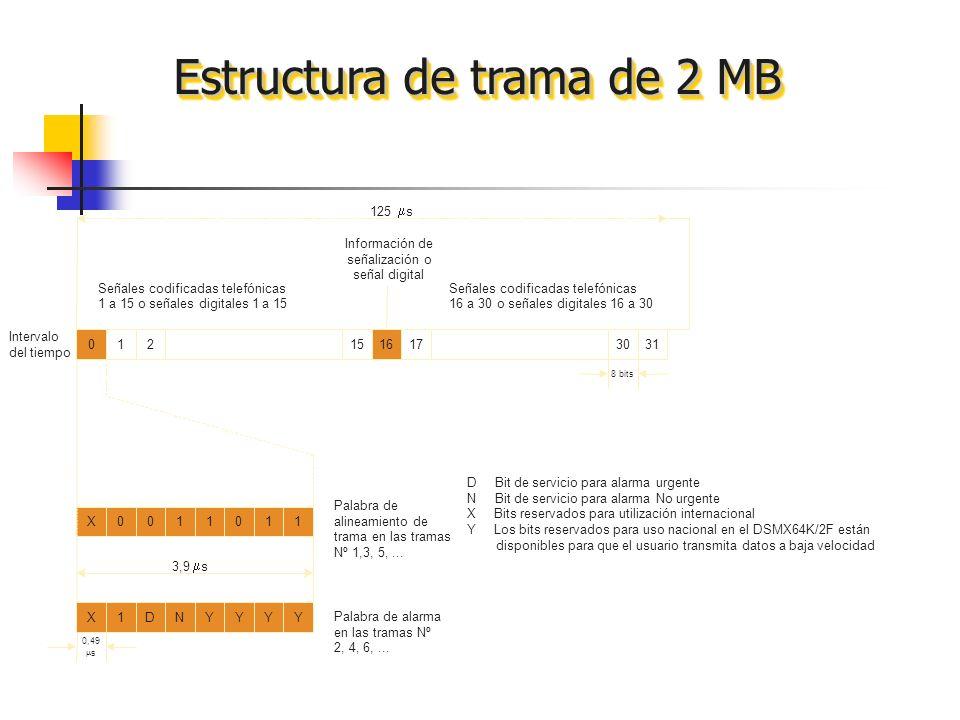Estructura de trama de 2 MB