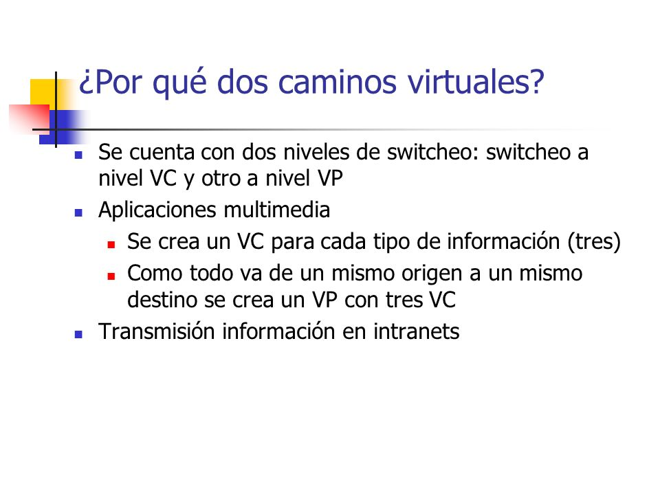 ¿Por qué dos caminos virtuales