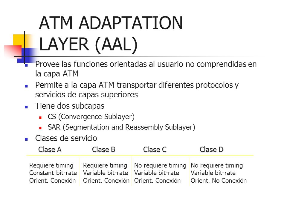 ATM ADAPTATION LAYER (AAL)