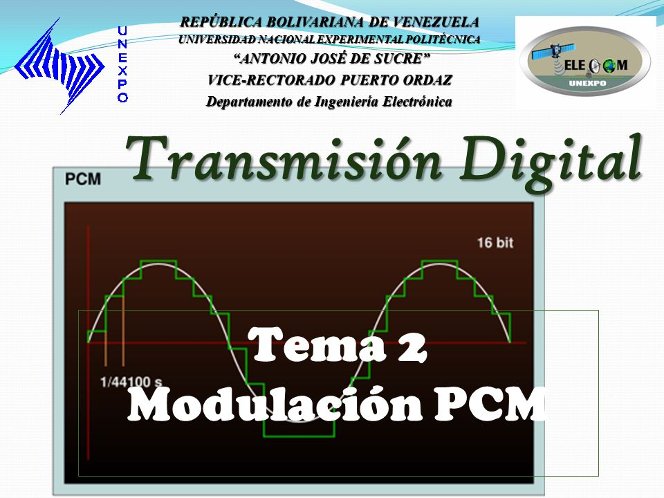 Transmisión Digital Tema 2 Modulación PCM
